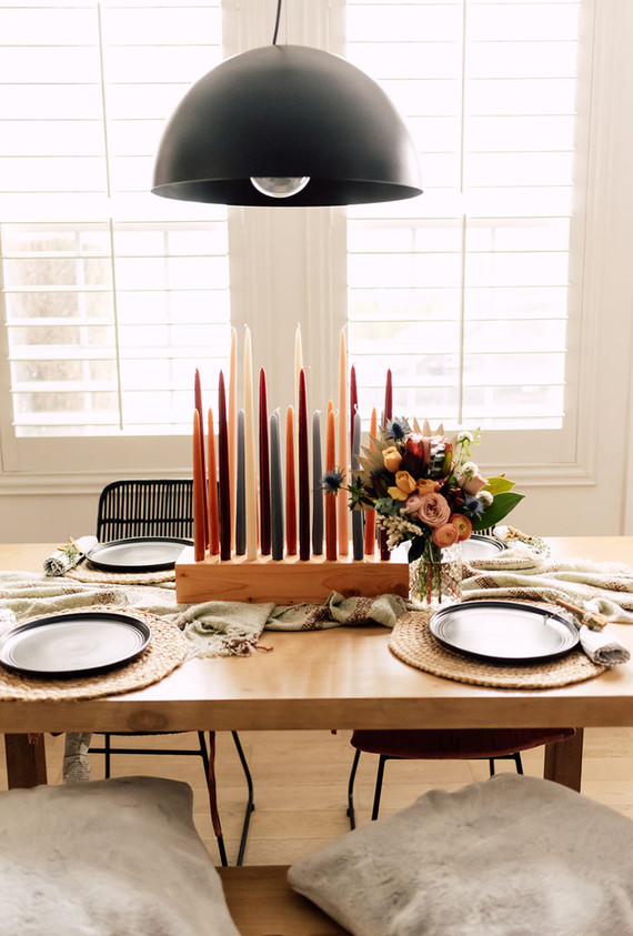 Fall home decor dining table