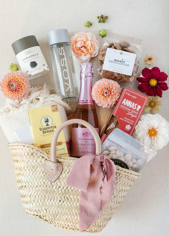 Wedding guest basket