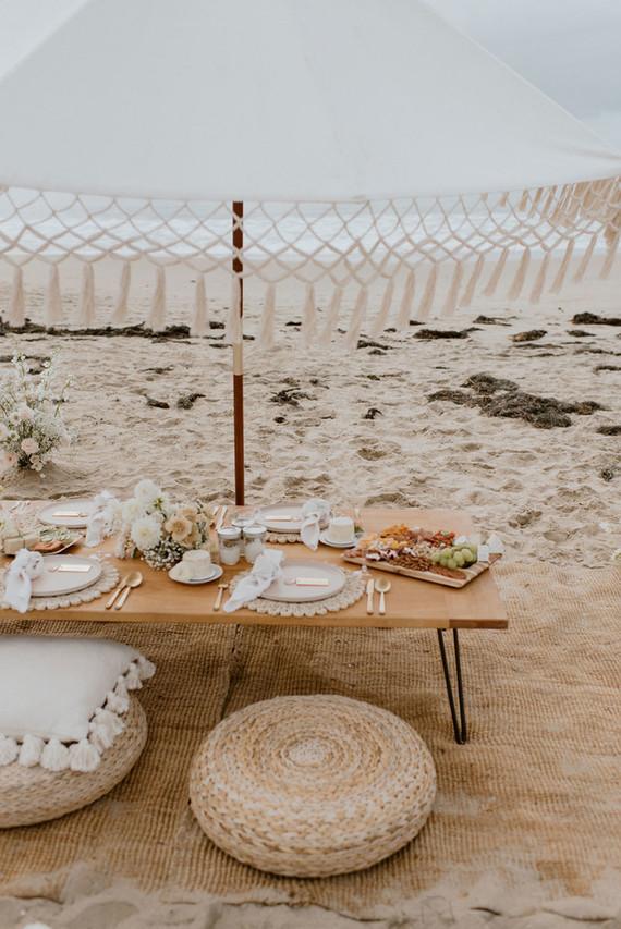 boho beach bridal shower