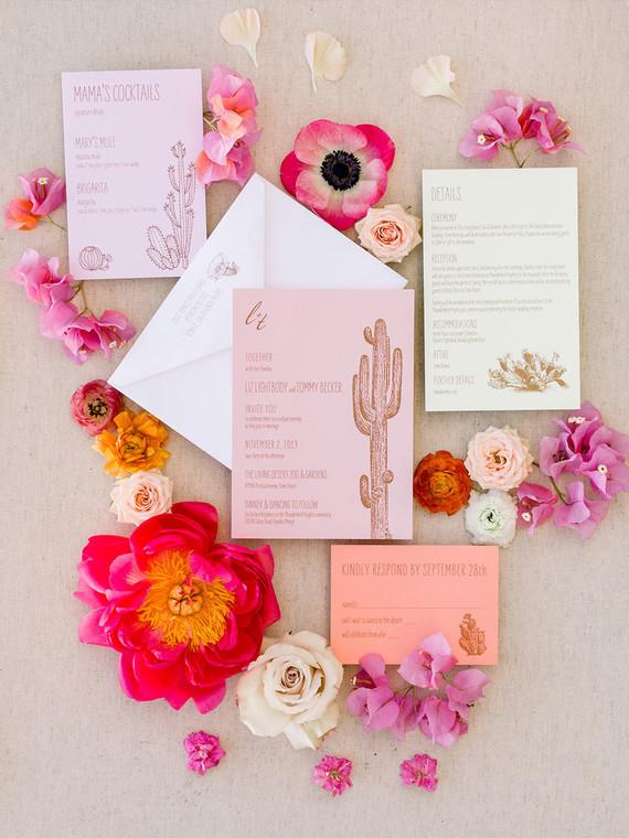 Palm Springs wedding invites