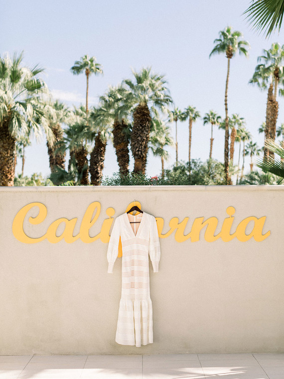 Palm Springs wedding dress