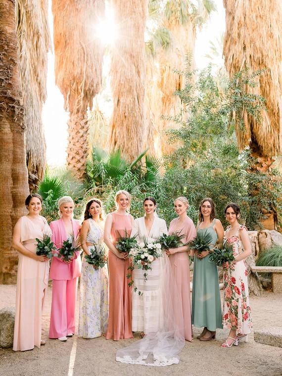 Palm Springs bridesmaids