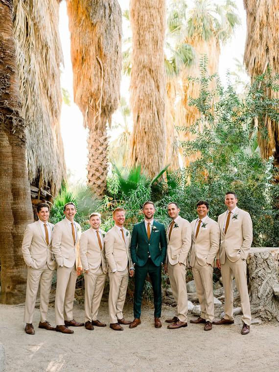 Palm Springs wedding groomsmen