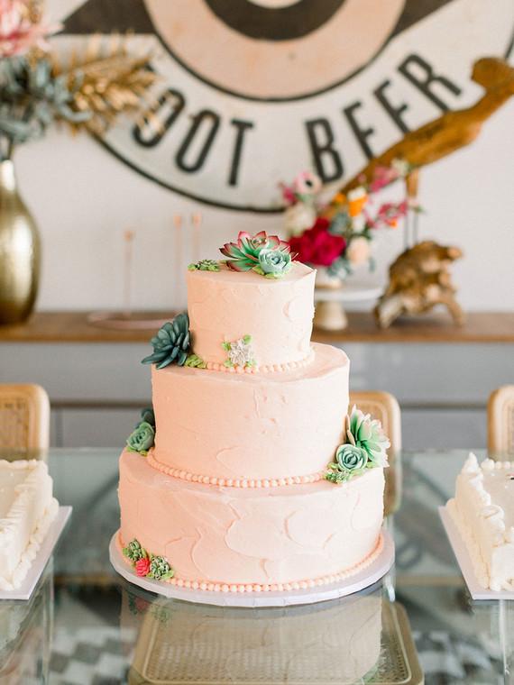 Palm Springs wedding cake