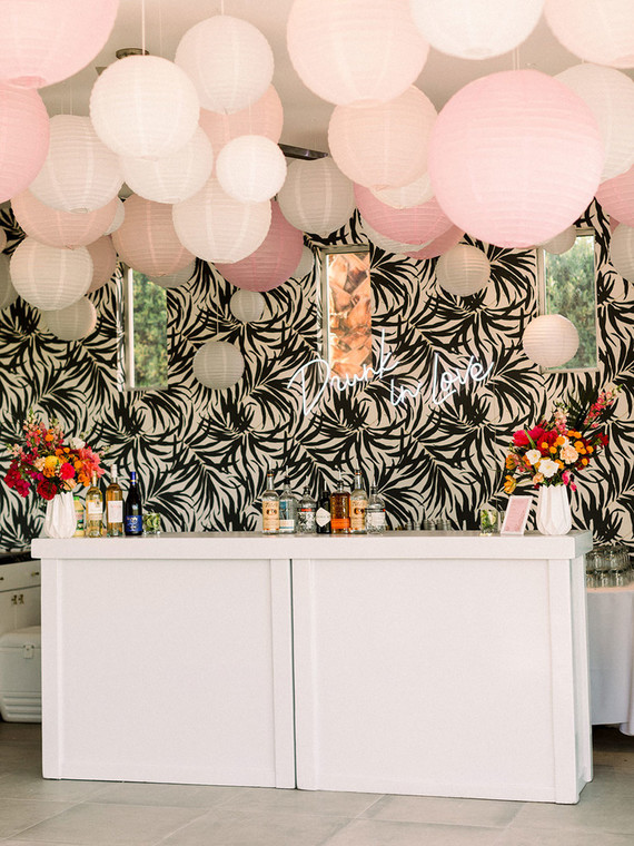 Palm Springs wedding bar