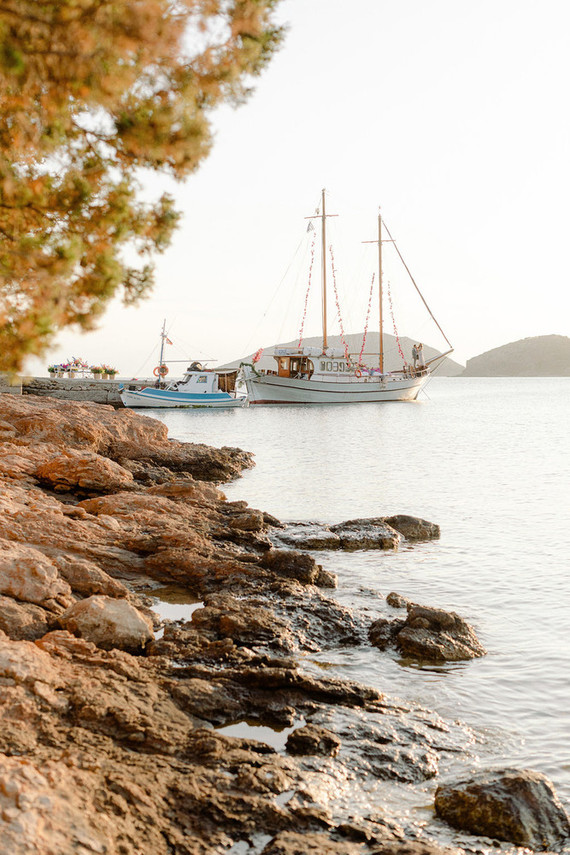 sailboat wedding in Greece