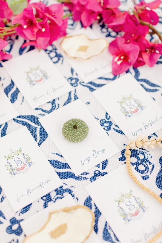 sailboat wedding escort cards