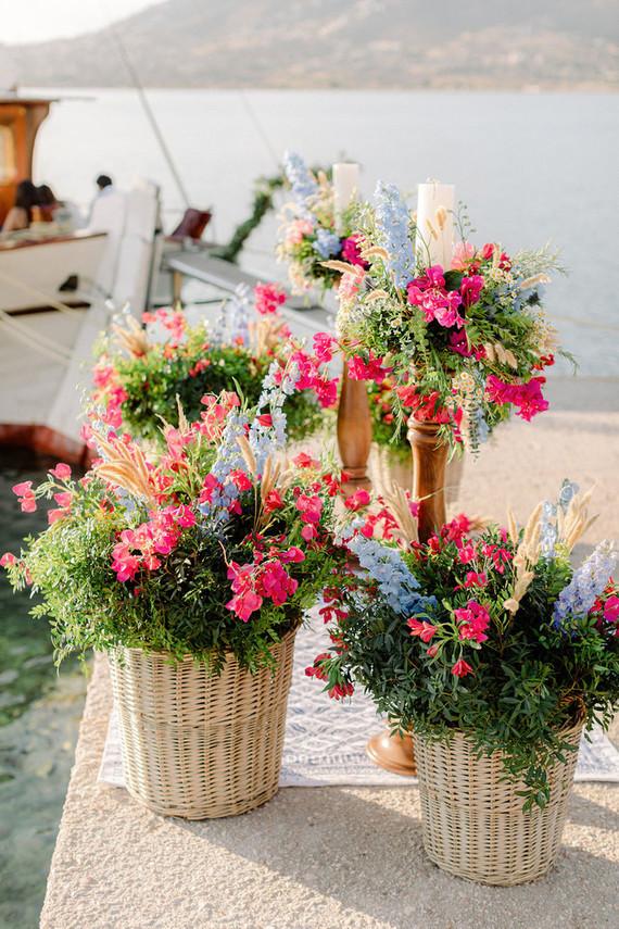 sailboat wedding flowers