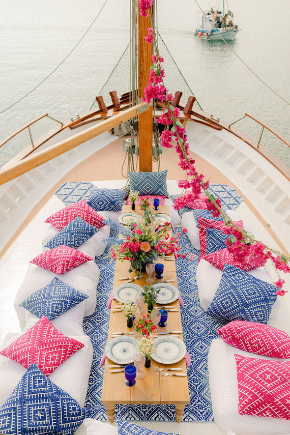 sailboat wedding reception