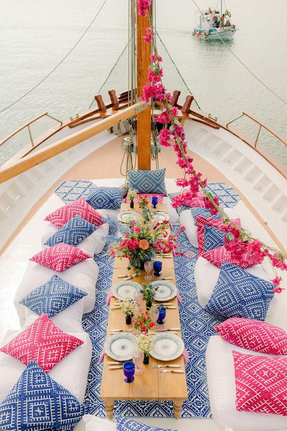 sailboat wedding reception
