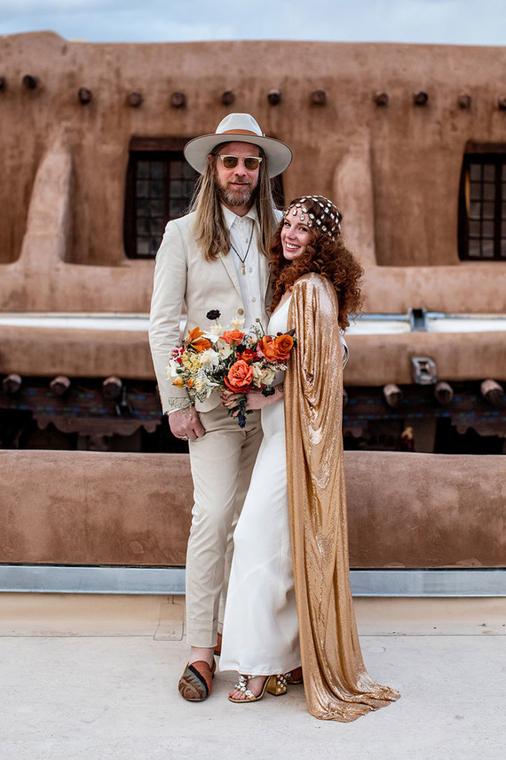 bride and groom in New Mexico