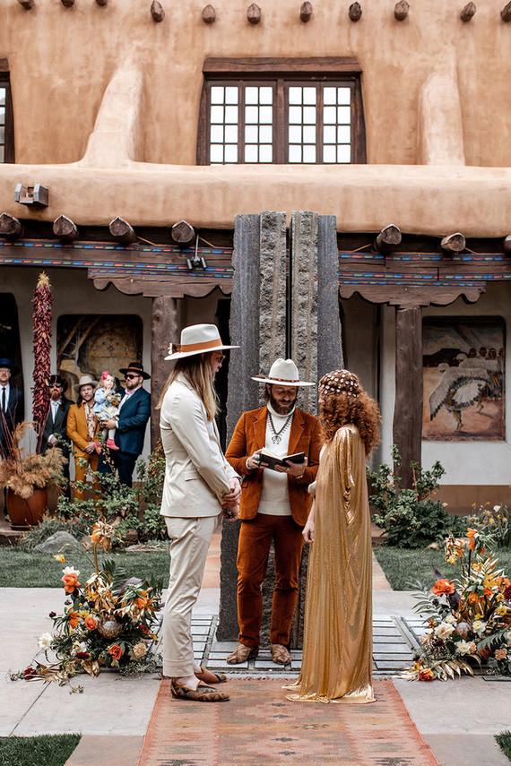 New Mexico wedding ceremony