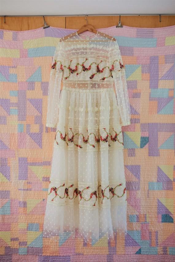 handmade bridal gown