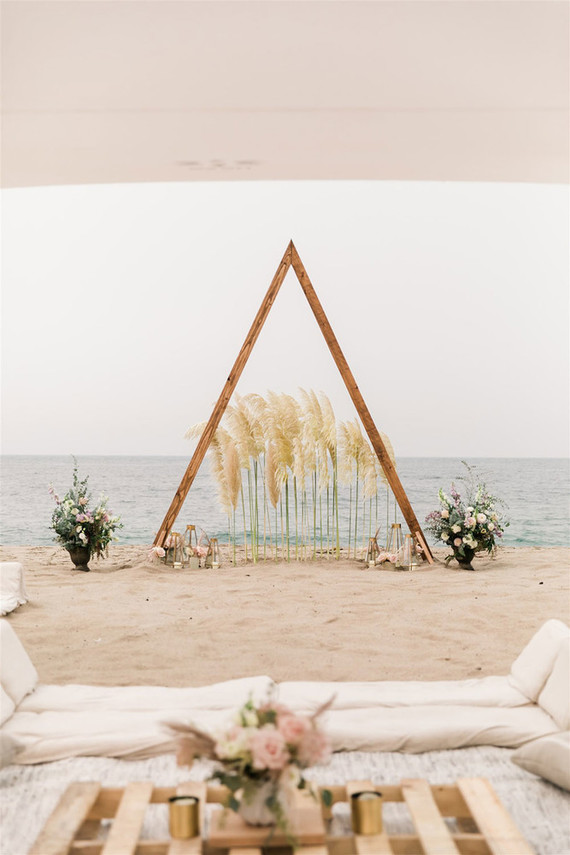 California beach wedding