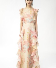 Valentino floral print wedding dress