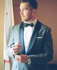 Chambray tux by J. Crew