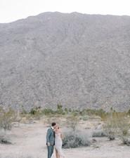 Desert wedding portraits