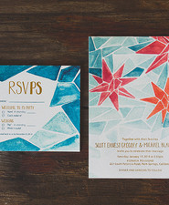Bohemian wedding invites