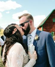 Colorado barn wedding portrait
