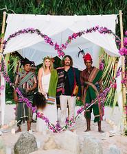 Indonesian island wedding