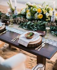 Rustic beachside wedding inspiration