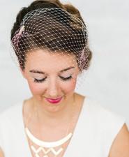 Modern wedding head piece
