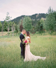 Colorful Montana sunset wedding inspiration