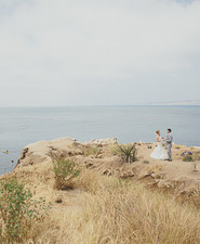 Cliffside wedding portrait