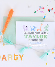 balloon animal invite