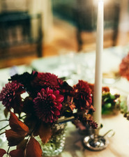 Romantic autumn tablescape
