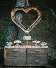 Rustic fall dessert table