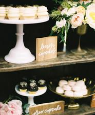 Wooden dessert signage