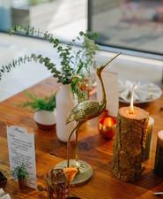 Modern wedding table decor