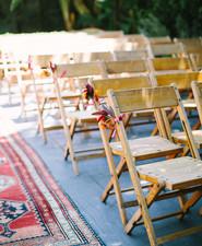 Backyard fiesta wedding ceremony