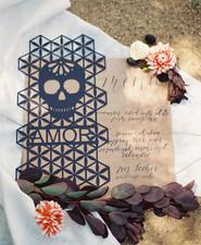 Dia de Los Muertos wedding menu