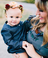Mother daughter fall photos