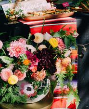 Fall bohemian florals