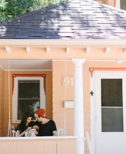 sweet little peach house