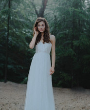 Simple bridal gown
