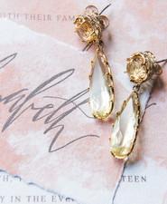 Taco wedding earrings