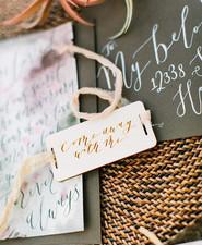 Bohemian elopement invitations
