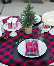 Christmas pancake dinner party for kids