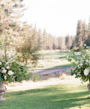 Hydrangea ceremony florals