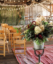 Romantic indoor ceremony