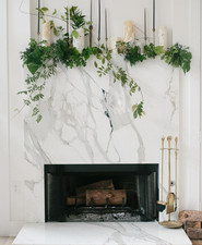 DIY Glam holiday mantel