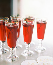 Pomegranate holiday cocktail