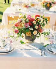 Summer wedding tablescape