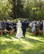 Vintage backyard autumn wedding