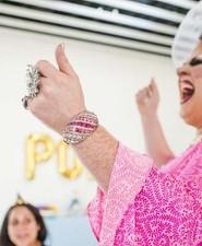 Drag queen party guest