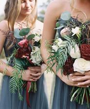 Fall wedding bridesmaids bouquet